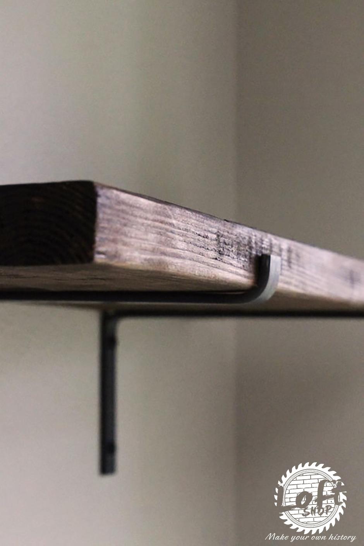Półka ścienna Ze Starego Drewna I Stali Loft Shop
