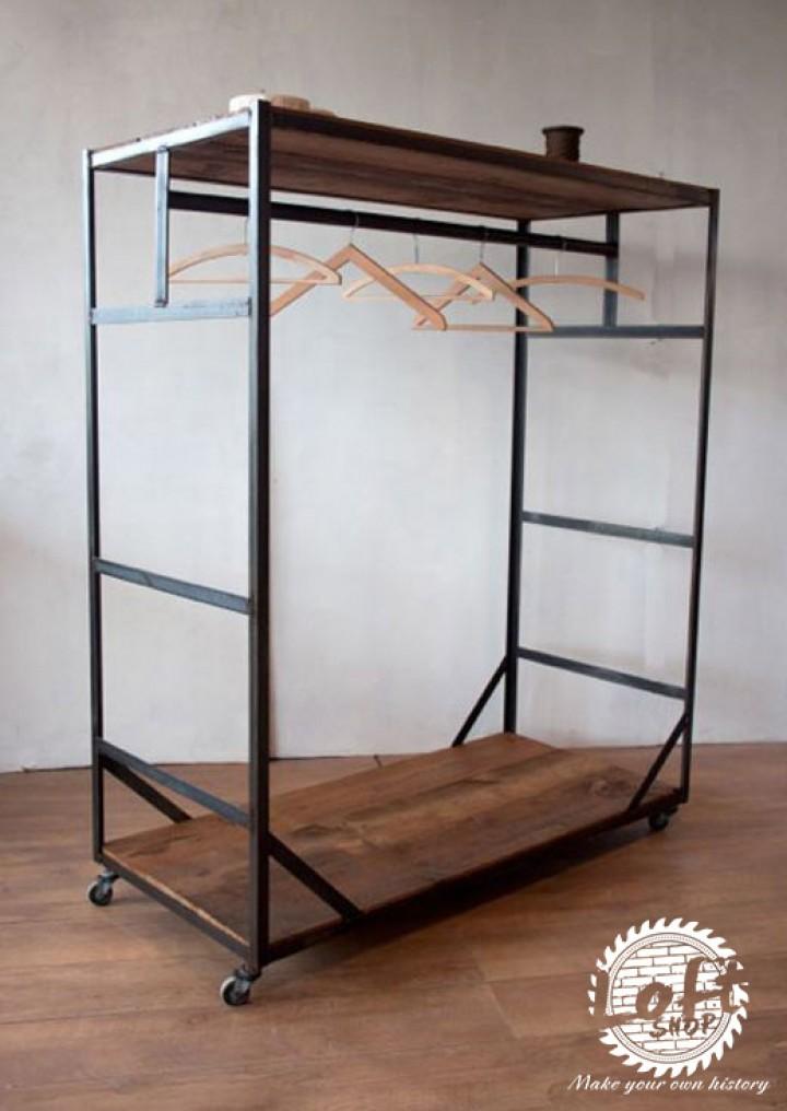 Niewiarygodnie Stalowy wieszak szafa w stylu LOFT BDL-071 - Loft-Shop PT81